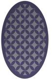 rug #119585 | oval blue-violet circles rug