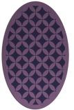 rug #119593 | oval purple circles rug