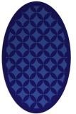 rug #119601 | oval blue-violet borders rug