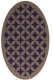 rug #119605   oval beige circles rug