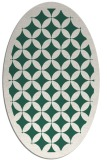rug #119629 | oval green traditional rug