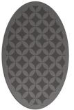 rug #119645 | oval brown circles rug