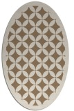 rug #119649 | oval beige traditional rug