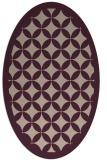 rug #119653 | oval pink borders rug