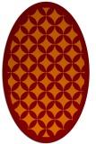 rug #119685 | oval orange geometry rug