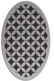 rug #119697 | oval orange borders rug
