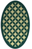 rug #119701 | oval yellow borders rug