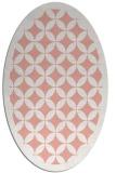 rug #119717 | oval white borders rug