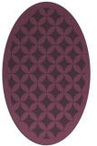 rug #119721 | oval purple geometry rug