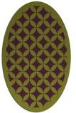 rug #119725 | oval green circles rug