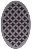 rug #119733 | oval purple circles rug