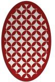 rug #119746   oval geometry rug