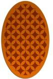 rug #119753 | oval red-orange traditional rug