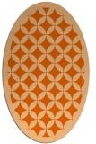 rug #119757 | oval red-orange circles rug