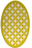 rug #119773 | oval white geometry rug