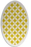 rug #119797 | oval yellow borders rug
