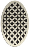 rug #119805 | oval black circles rug