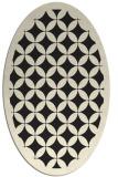 rug #119805 | oval black borders rug