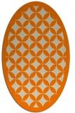 rug #119813 | oval orange borders rug