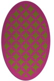 rug #119825 | oval light-green borders rug