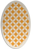 rug #119845 | oval white geometry rug