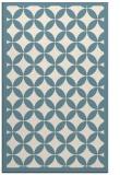 rug #119873    white circles rug