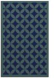 rug #119881 |  blue circles rug