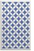rug #119889 |  blue circles rug
