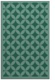 rug #119905 |  blue-green borders rug