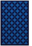 rug #120017    blue circles rug