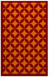 rug #120037 |  orange geometry rug