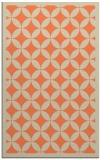 rug #120045 |  orange circles rug
