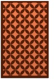 rug #120049 |  red-orange circles rug