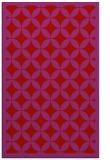 rug #120101 |  pink circles rug