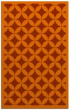 rug #120105 |  red-orange circles rug