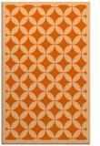 rug #120109 |  red-orange circles rug