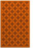 rug #120113 |  red-orange circles rug