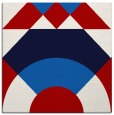 rug #1201995 | square red circles rug