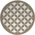 rug #120201 | round beige traditional rug