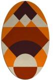 rug #1202103 | oval orange graphic rug