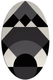 rug #1202107 | oval white geometry rug