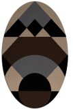rug #1202115 | oval beige geometry rug