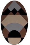 rug #1202119 | oval black circles rug