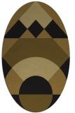 rug #1202123 | oval mid-brown rug