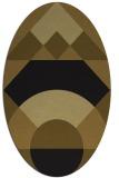 rug #1202125 | oval geometry rug