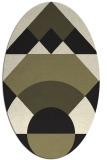 rug #1202127 | oval black circles rug