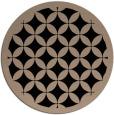 rug #120213 | round beige borders rug