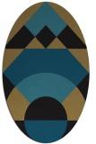 rug #1202131 | oval brown circles rug