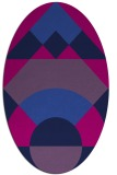 rug #1202139 | oval blue graphic rug