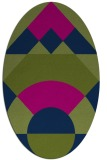 rug #1202147 | oval blue graphic rug